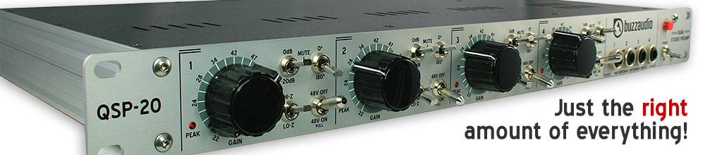 QSP-20 four channel mic preamp