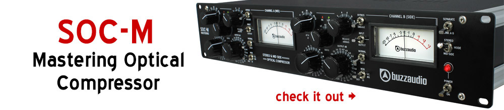 SOC-M optical compressor for mixing and mastering